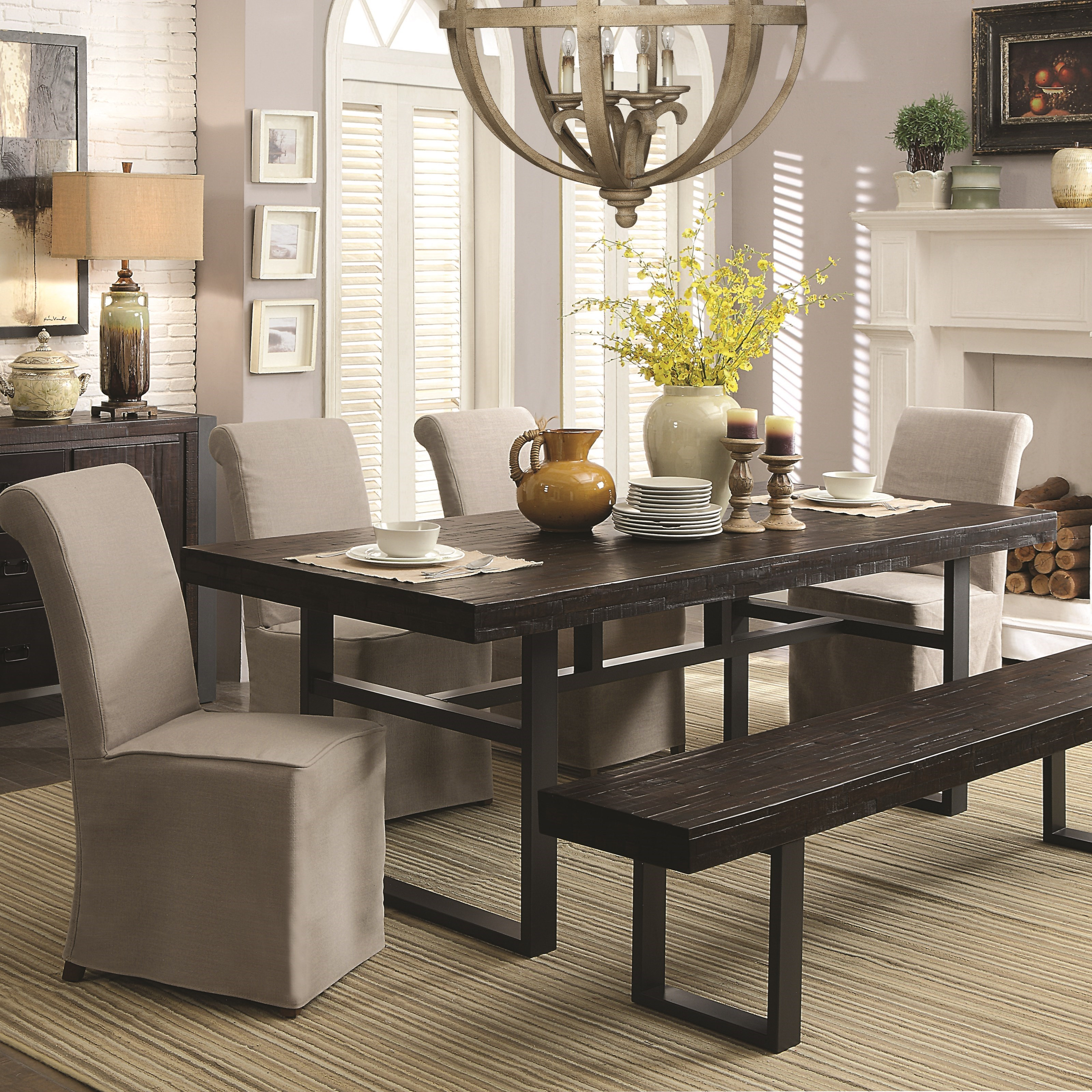 Coaster Keller 6 Piece Dining Set With Bench