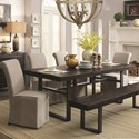 Coaster Keller 6 Piece Dining Set with Bench - Item Number: 106941+106943+4x104278