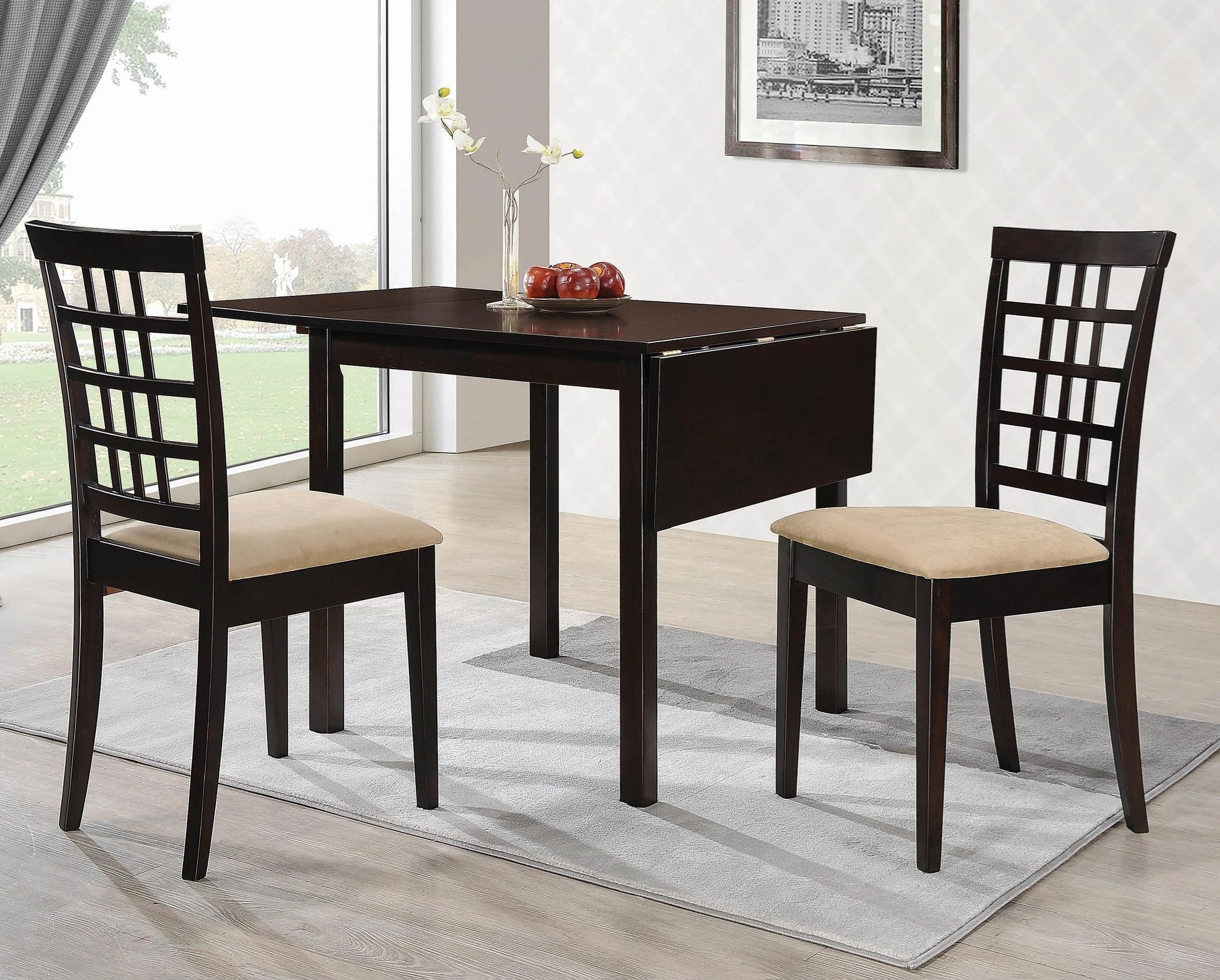 Coaster Kelso Transitional 3 Piece Dining Set Value City
