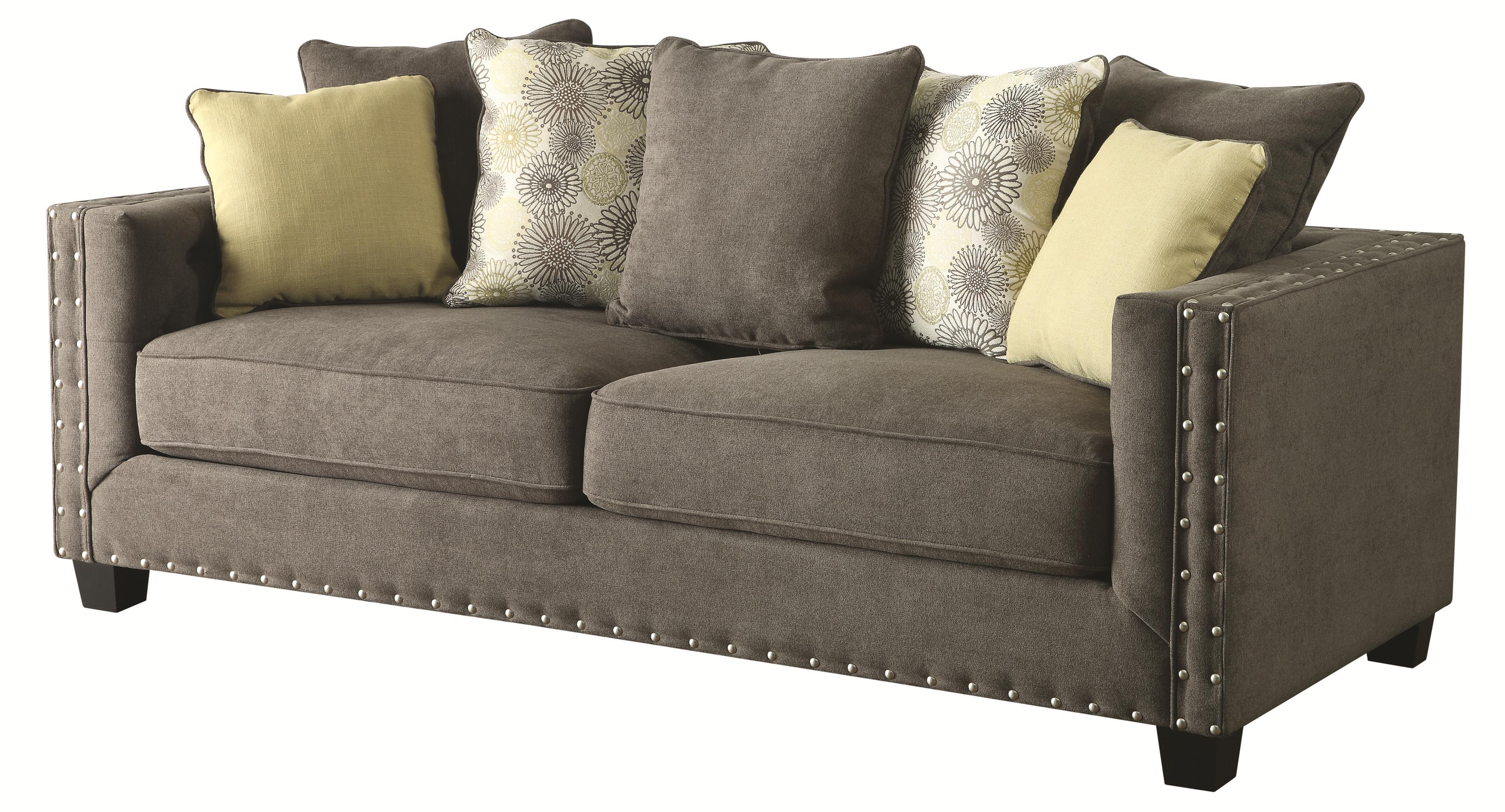 Coaster Kelvington Tuxedo Sofa - Item Number: 501421-Kelvington Charcoal