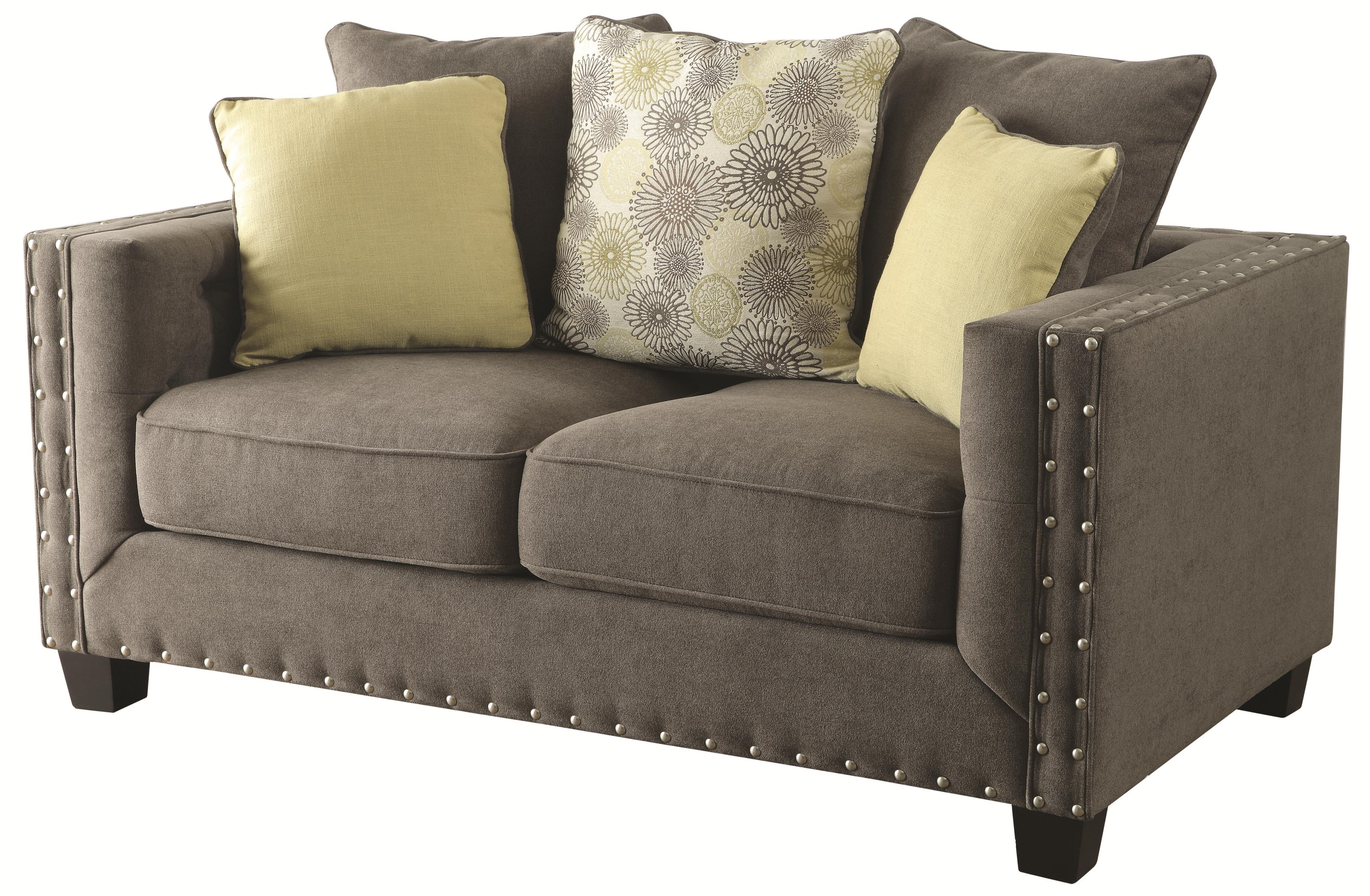 Coaster Kelvington Love Seat - Item Number: 501422-Kelvington Charcoal