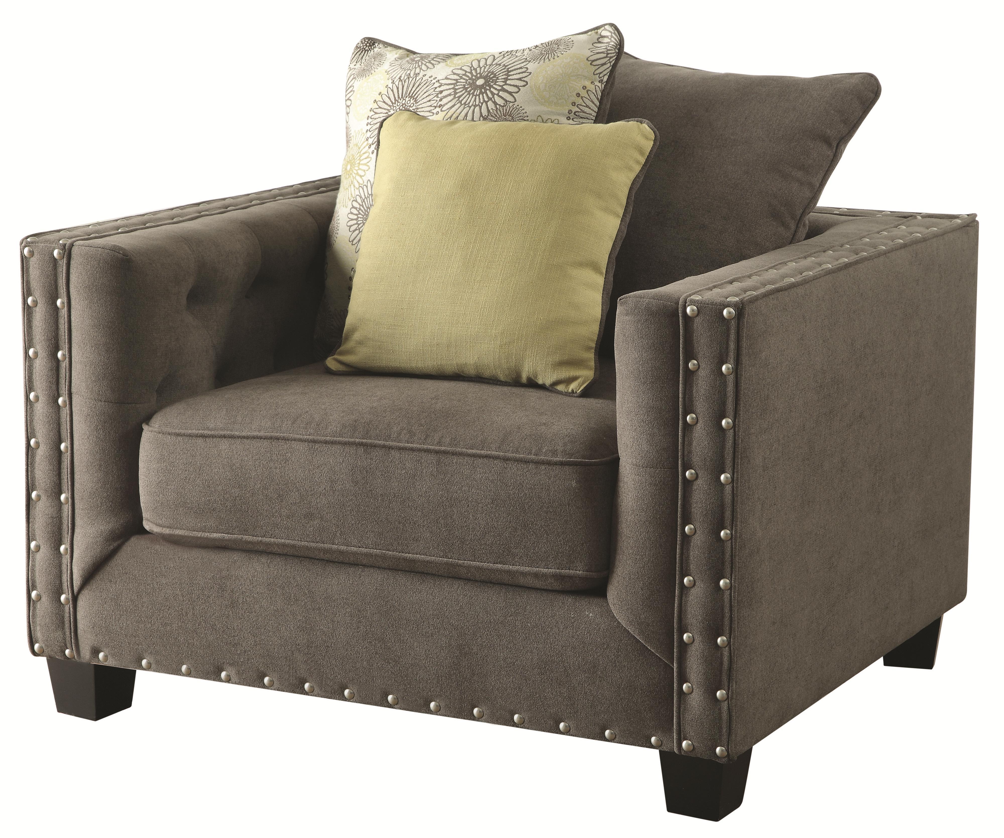 Coaster Kelvington Upholstered Chair - Item Number: 501423-Kelvington Charcoal