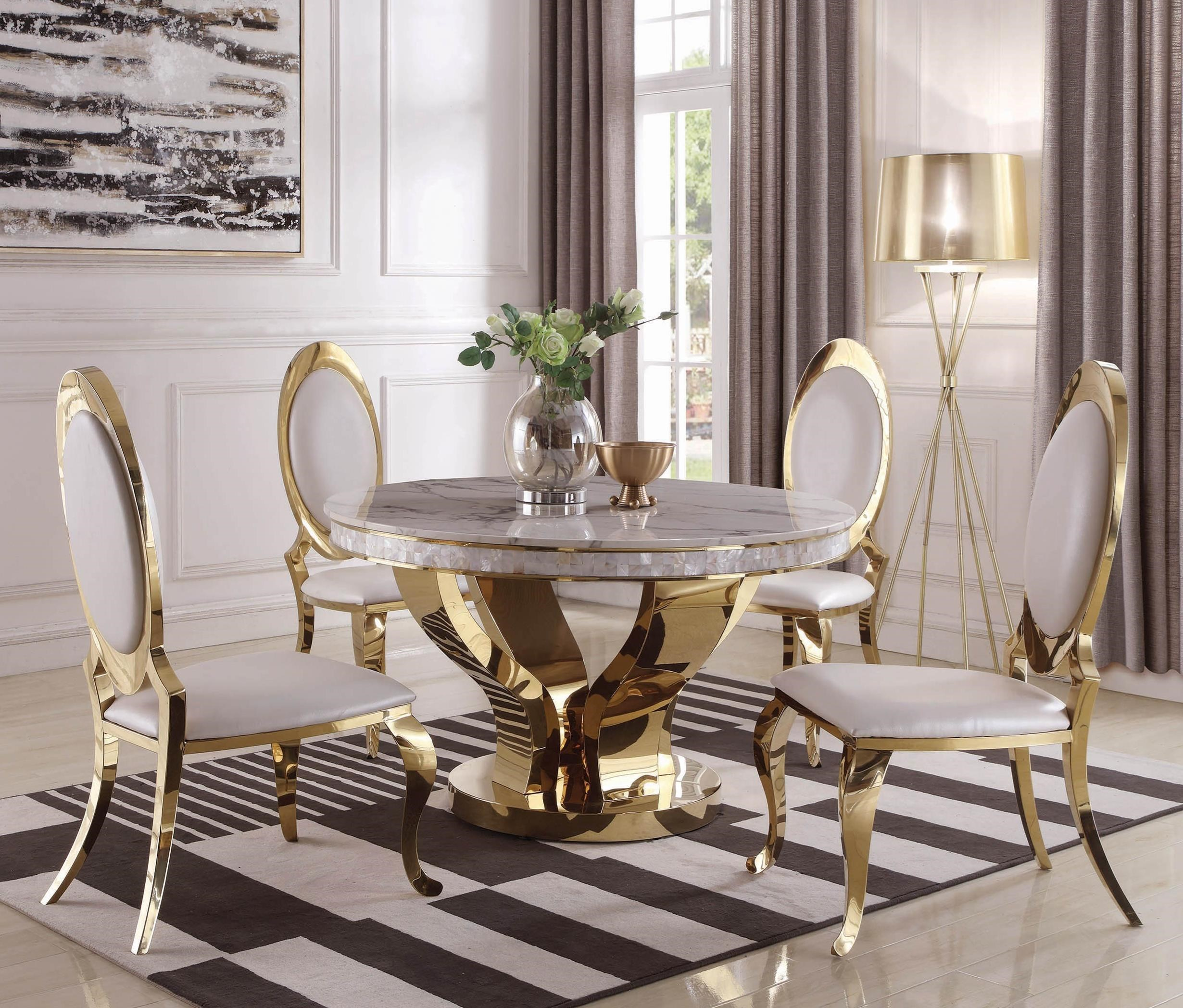 Coaster Kendall Glam 5-Piece Dining Set