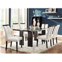 Coaster Kenneth 7 Piece Set with LED Lit Dining Table - Item Number: 104561+6x3