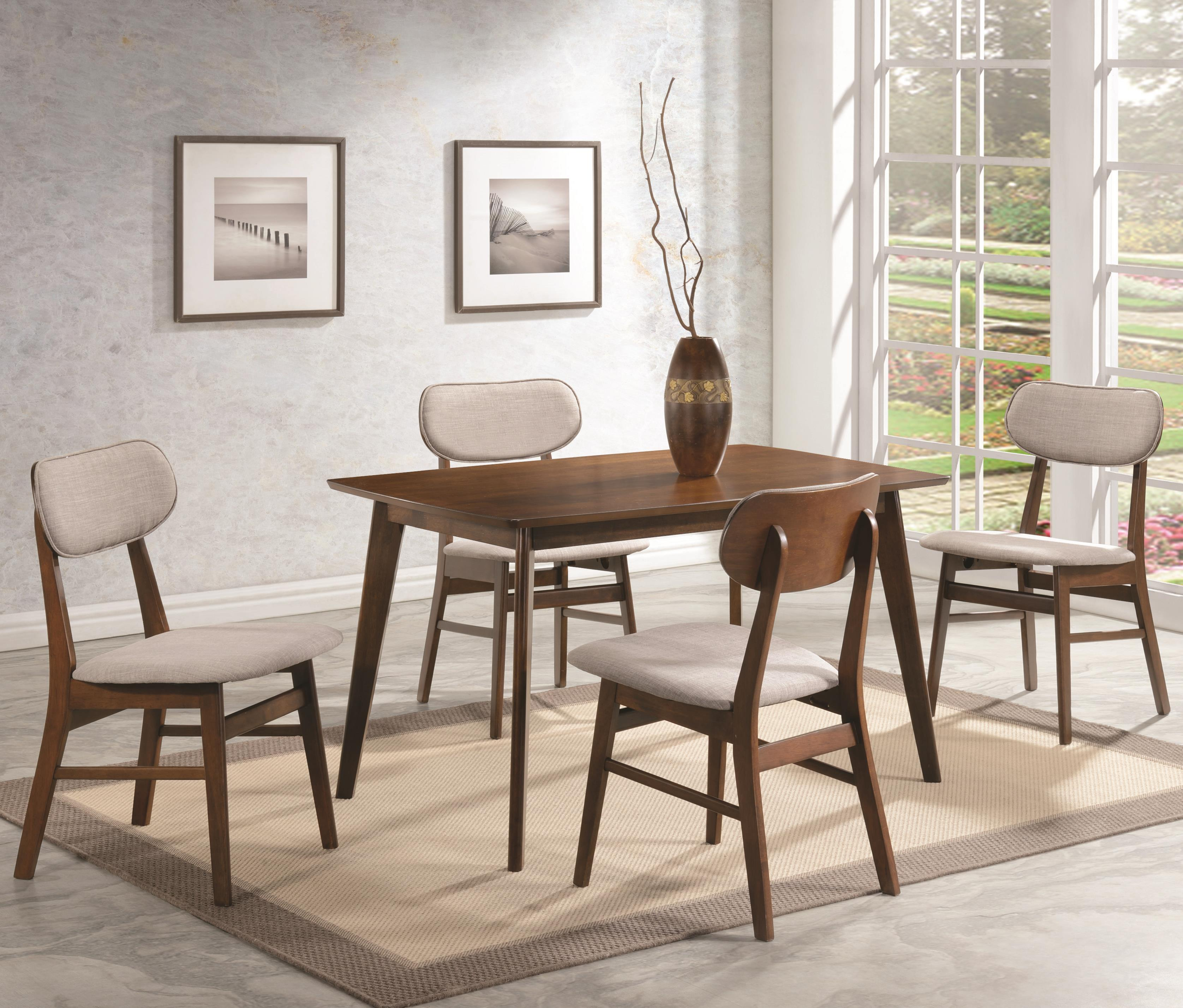 Coaster Kersey 5 Piece Table & Chair Set - Item Number: 103061+4x105912
