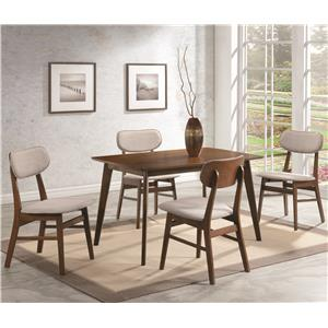 Coaster Kersey 5 Piece Table & Chair Set