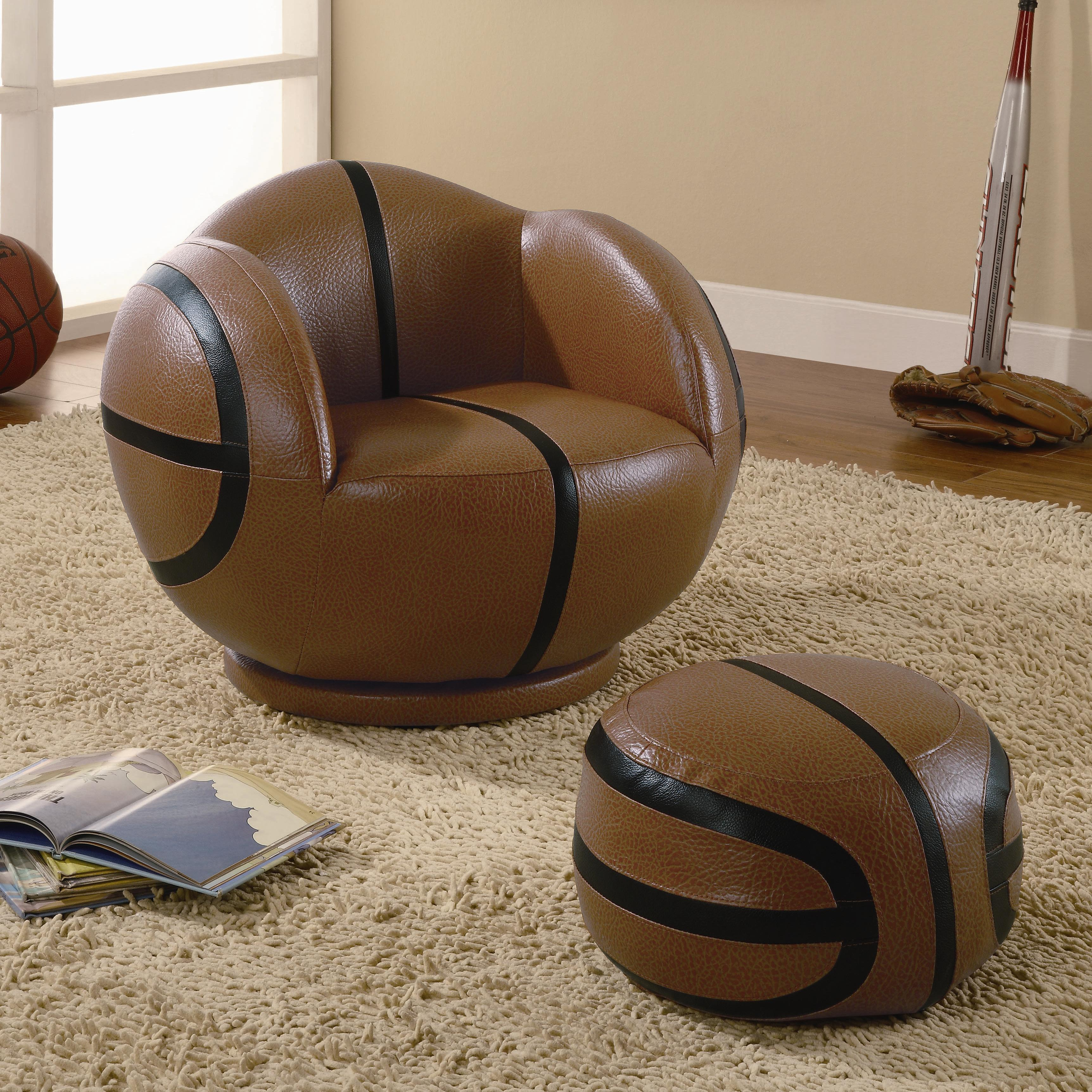Coaster Kids Sports Chairs Youth Chair and Ottoman - Item Number: 460176