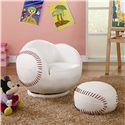 Coaster Kids Sports Chairs Youth Chair and Ottoman - Item Number: 460177