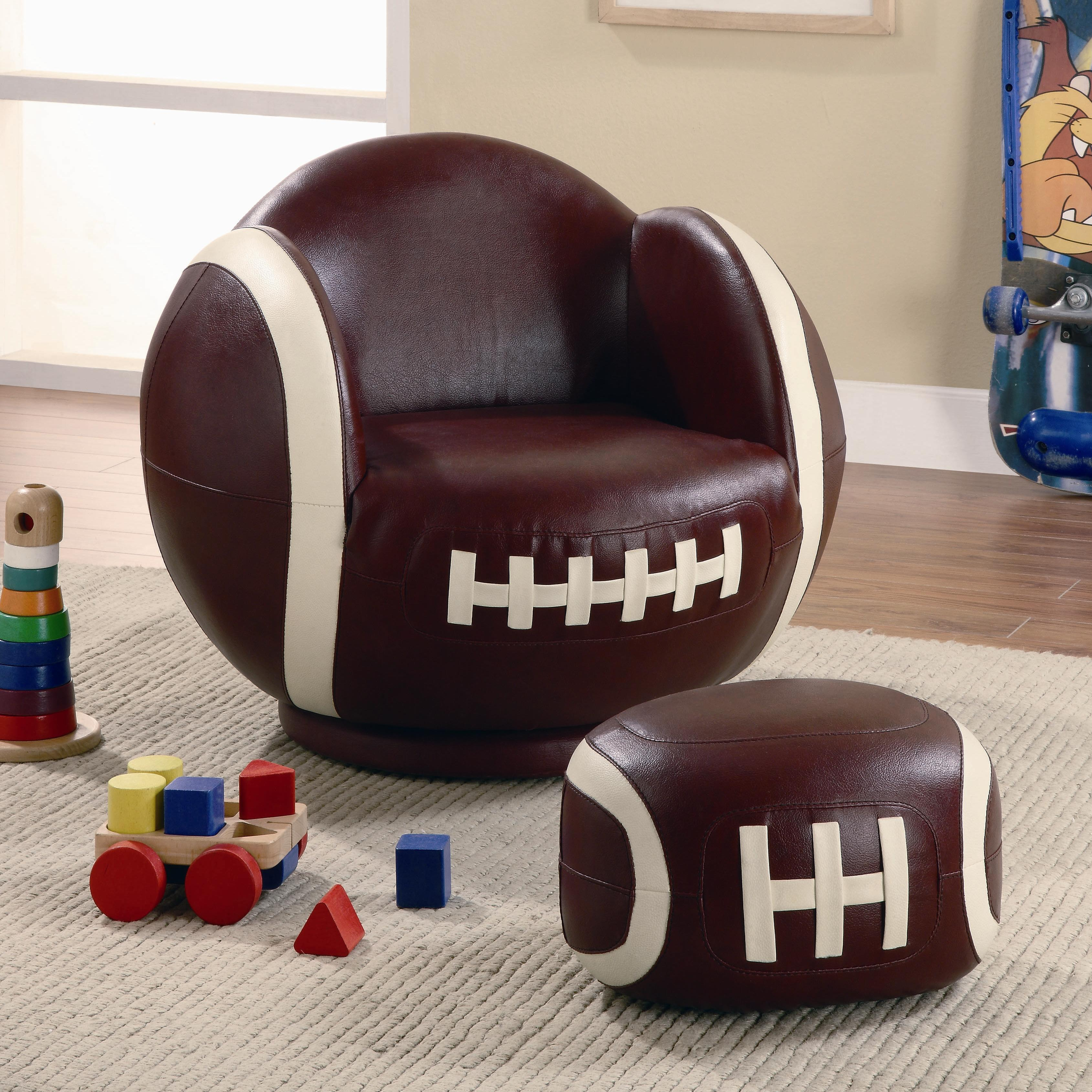 Coaster Kids Sports Chairs Youth Chair and Ottoman - Item Number: 460179