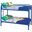 Coaster Metal Beds Twin Bunk Bed - Item Number: 2256B