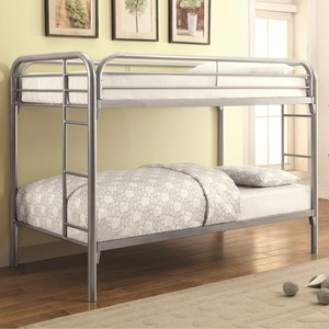 Coaster Metal Beds Twin Bunk Bed