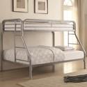 Coaster Metal Beds Twin Over Full Bunk Bed - Item Number: 2258V