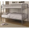 Coaster Metal Beds Twin Bunk Bed - Item Number: 460377V