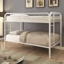 Coaster Metal Beds Twin Bunk Bed - Item Number: 460377W