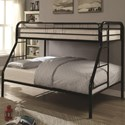 Coaster Metal Beds Twin Over Full Bunk Bed - Item Number: 460378K