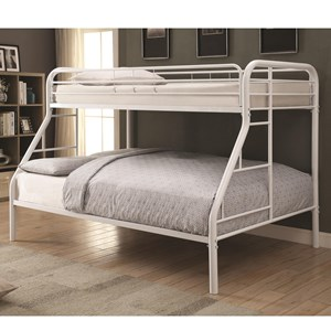 Coaster Metal Beds Twin Over Full Bunk Bed