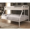 Coaster Metal Beds Twin Over Full Bunk Bed - Item Number: 460378W