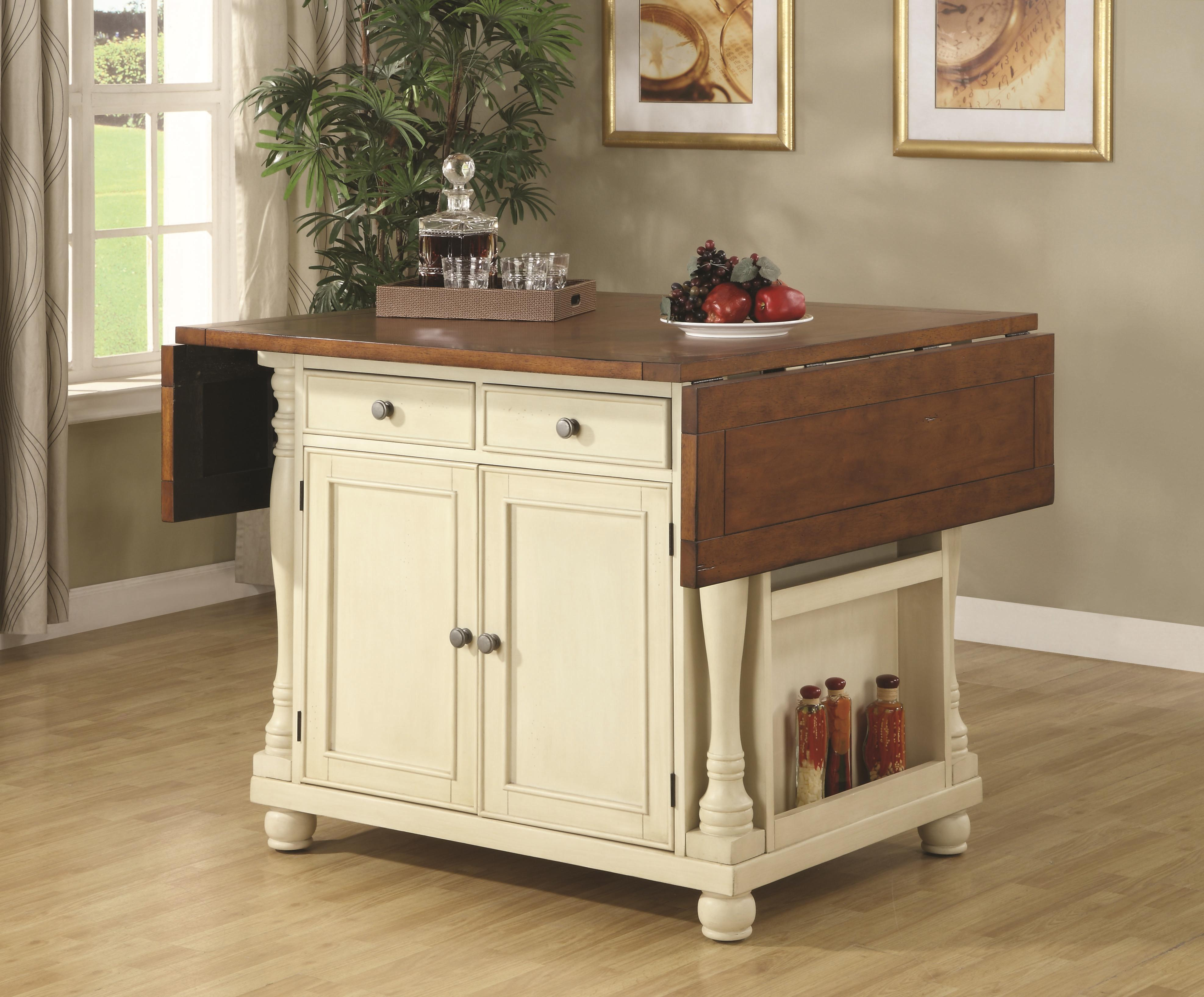 two tone kitchen island coaster kitchen carts two tone kitchen island with drop 6437