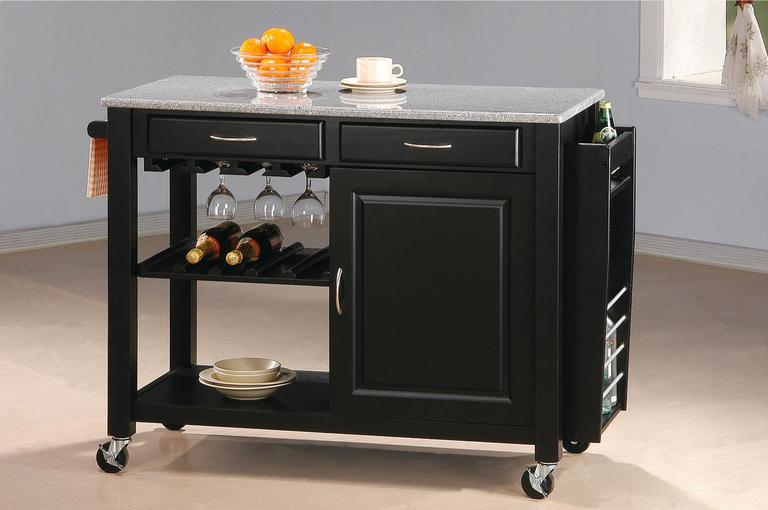kitchen islands and carts furniture coaster kitchen carts 5870 kitchen cart with granite top del sol furniture kitchen islands 7734