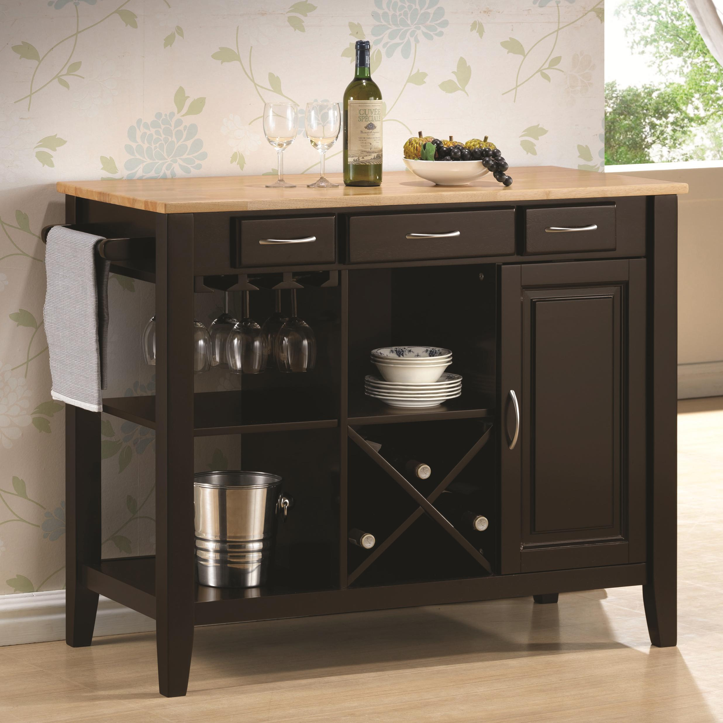 Coaster Kitchen Carts Kitchen Cart   Item Number: 910028