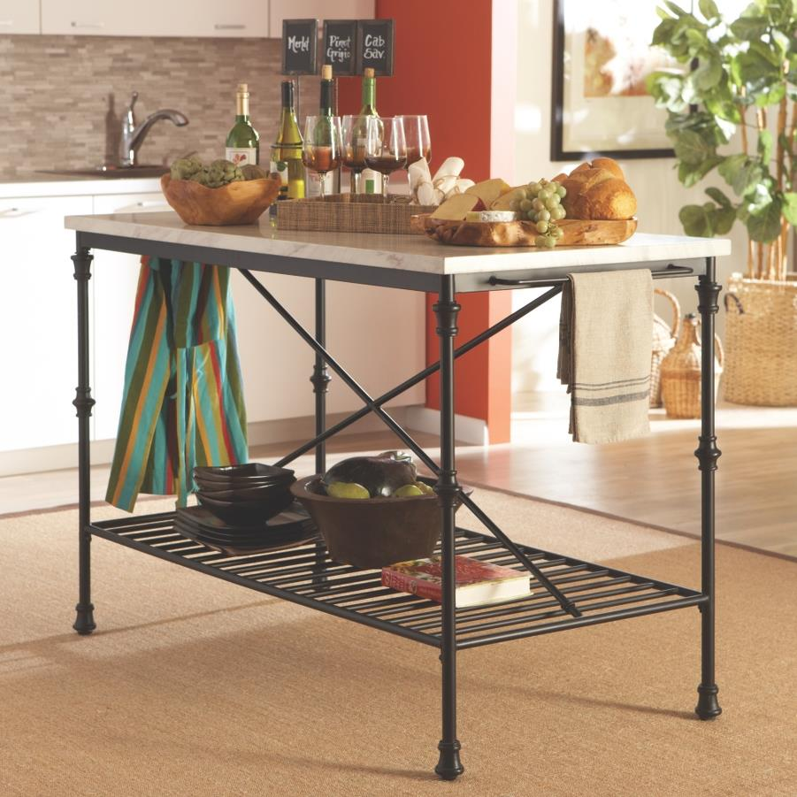 kitchen islands and carts furniture coaster kitchen carts kitchen island with faux marble top value city furniture kitchen islands 5448