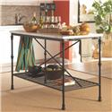 Coaster Kitchen Carts Kitchen Island with Faux Marble Top