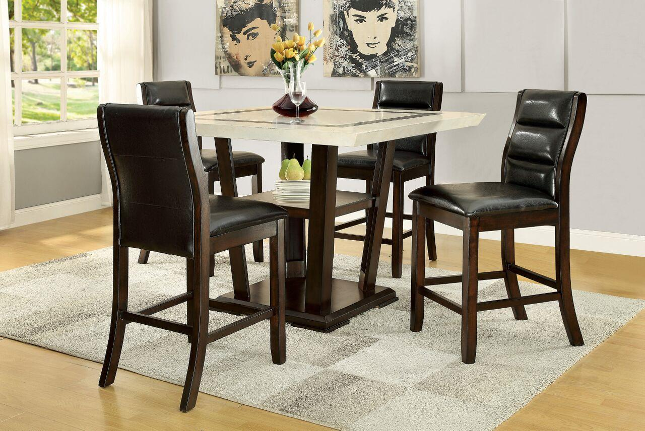 Coaster Lacombe 5 Piece Pub Table Set  - Item Number: 105848+4x105849