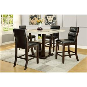 Coaster Lacombe 5 Piece Pub Table Set