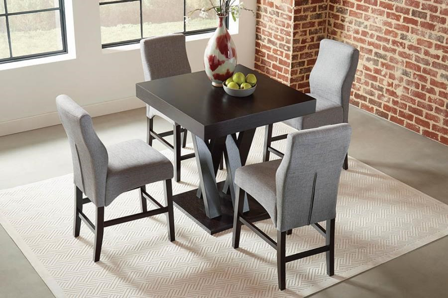 Lampton 5-Piece Counter Height Set by Coaster at Beck's Furniture