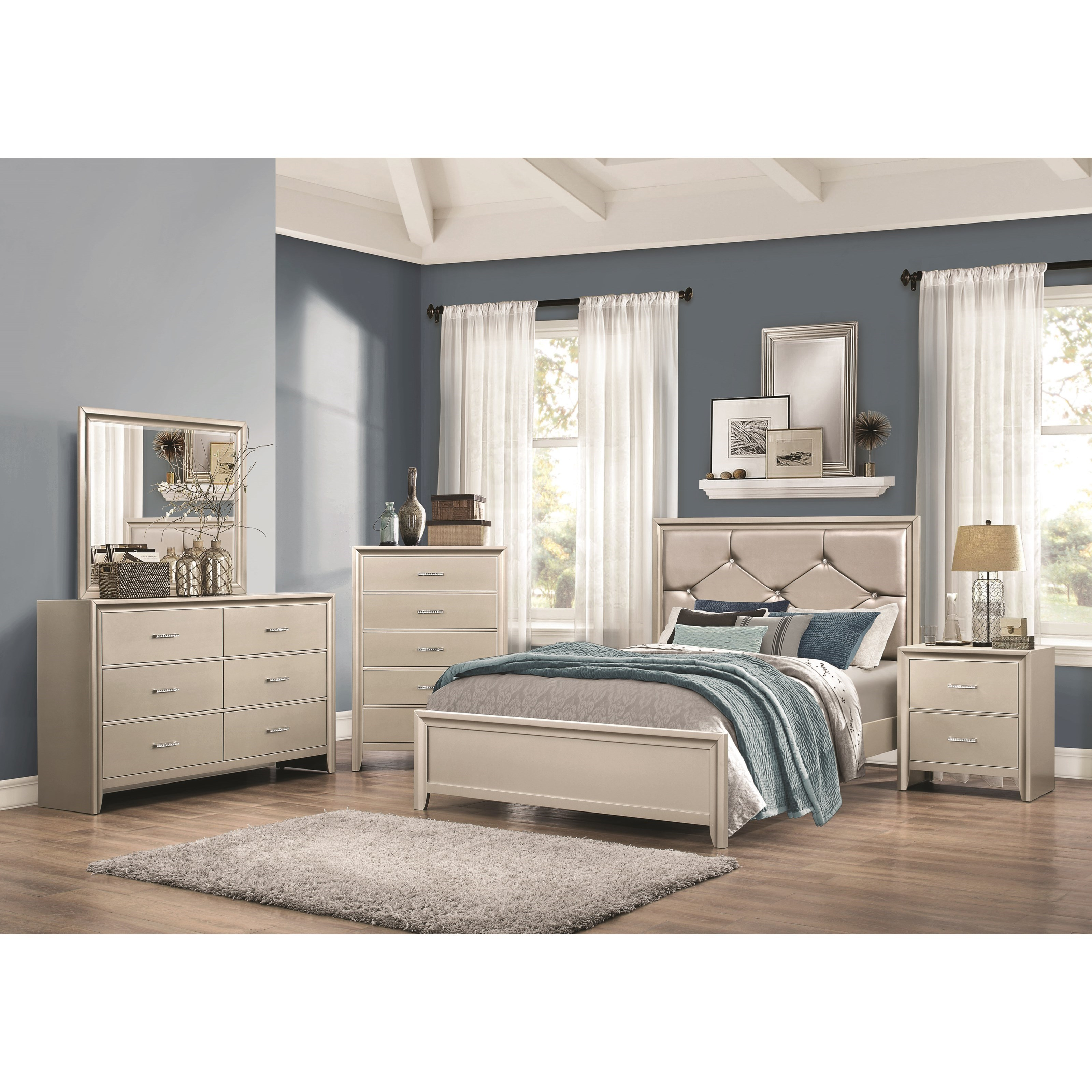 Coaster Lana Full Bedroom Group - Item Number: 205180 F Bedroom Group