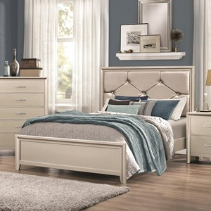 Queen Bed with Upholstered Headboard