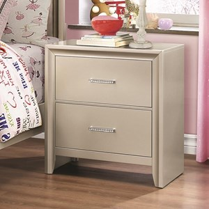 Coaster Lana 2 Drawer Nightstand
