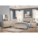 Coaster Lana 6 Drawer Dresser and Mirror with Wood Frame