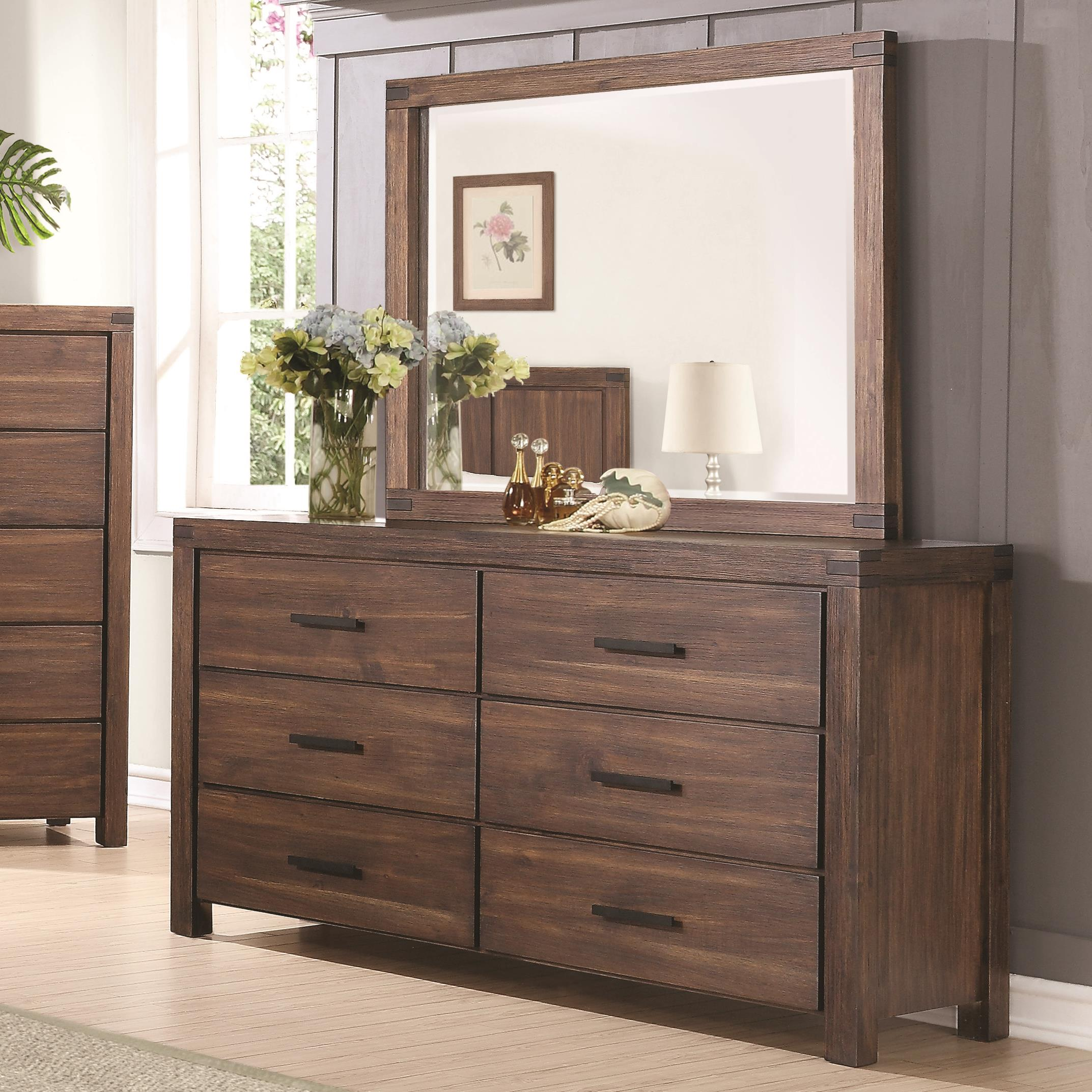 leo casegoods signature mirror on ashley zayley save furniture by design dresser sd
