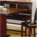 Coaster Lancaster Counter Height Dining Bench with Faux Leather Back and Seat - 101793