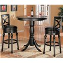 Coaster Lathrop Classic Round Bar Table with Pedstal Base - 100278 - Shown with Bar Stools