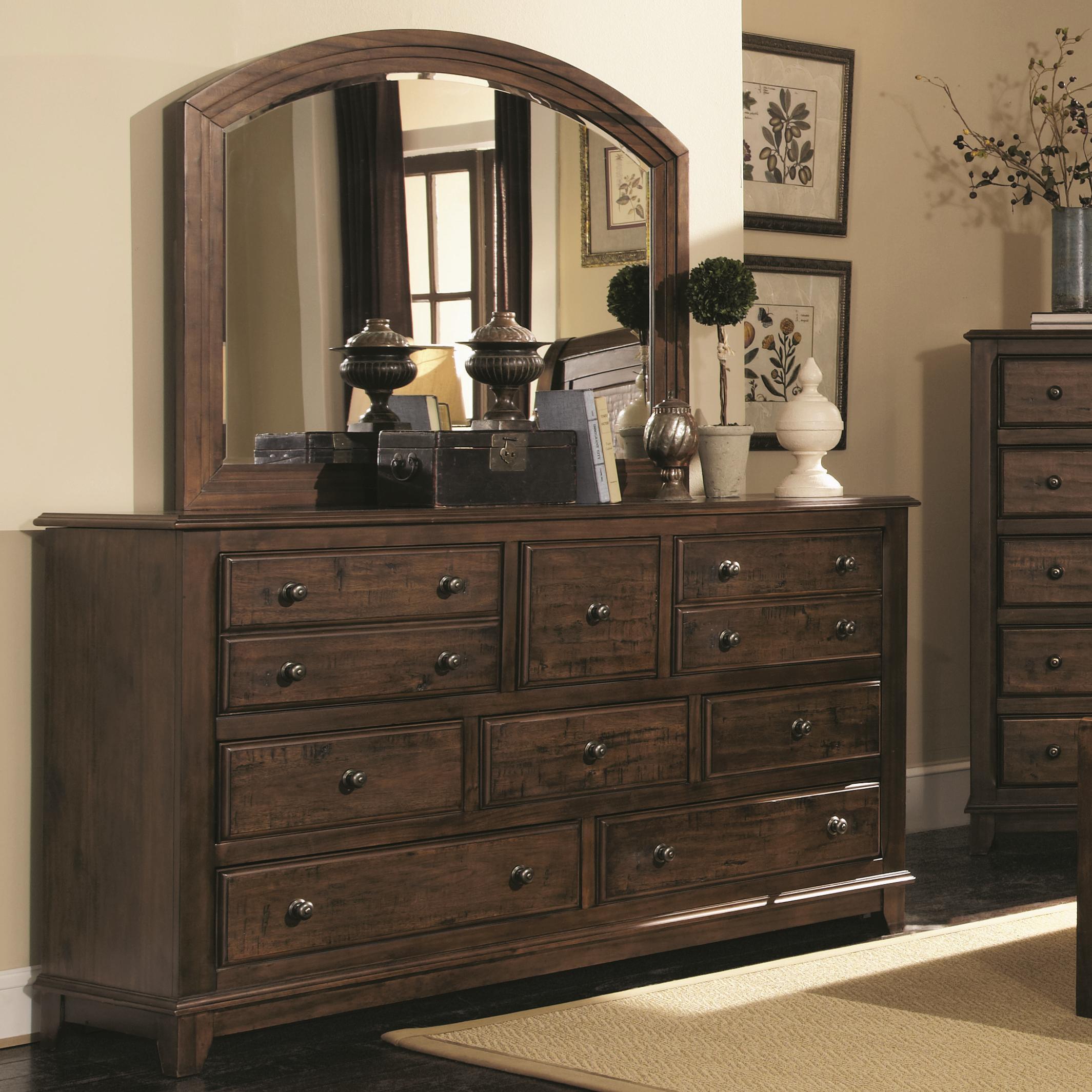 Coaster Laughton Dresser and Mirror - Item Number: 203263+64