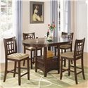 Coaster Lavon 5 Piece Counter Table and Chair Set - Item Number: 100888N+4x889N