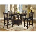 Coaster Lavon 5 Piece Counter Table and Chair Set - Item Number: 102888+4x9