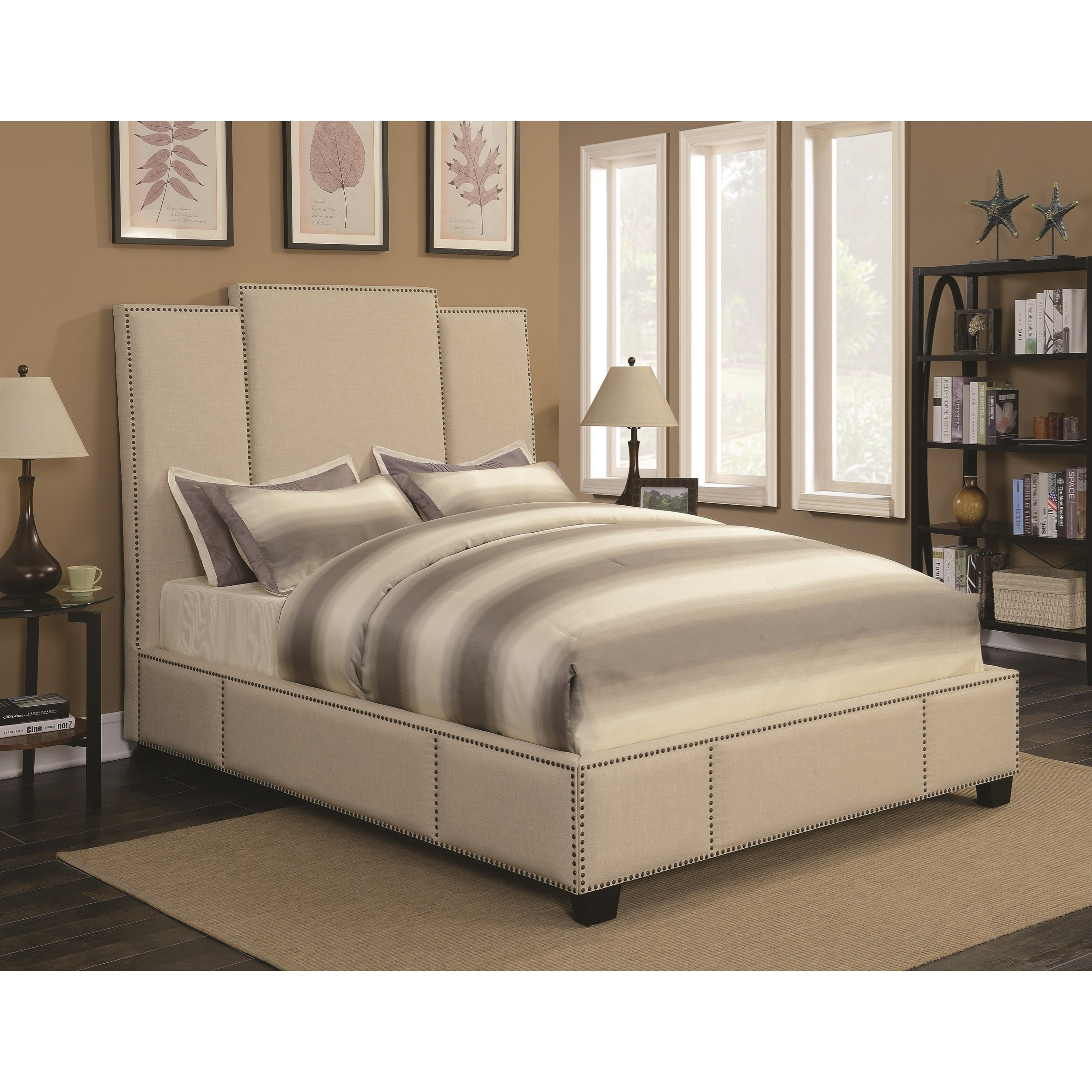 Coaster Lawndale California King Upholstered Bed - Item Number: 300796KW