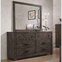Coaster Lawndale Dresser and Mirror Set - Item Number: 206303+4M