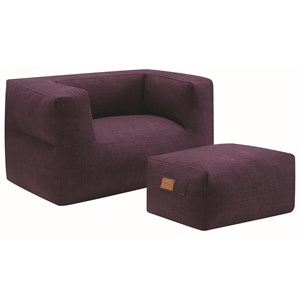 Coaster Lazy Life Chair And Ottoman