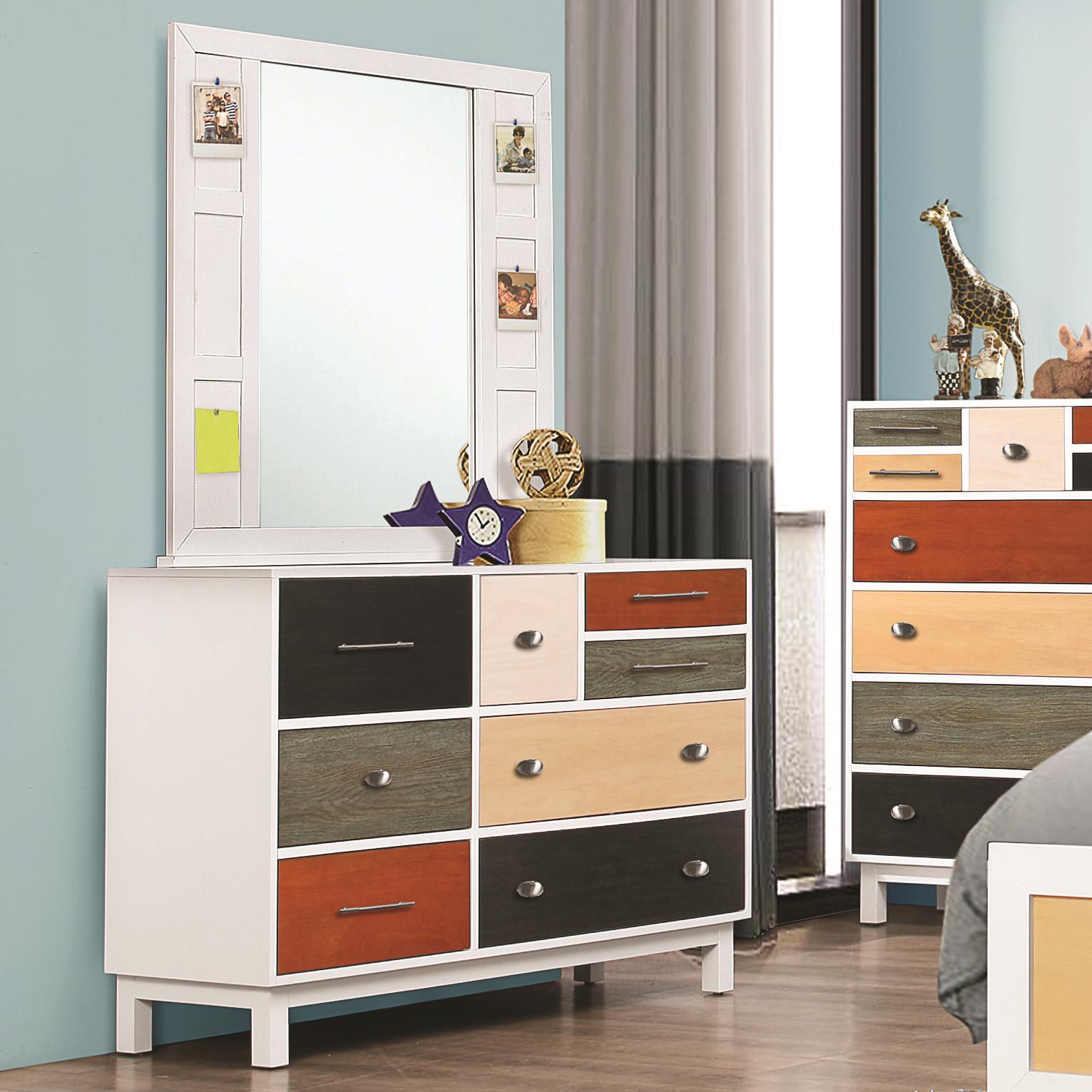 Coaster Lemoore Dresser and Mirror Set - Item Number: 400793+400794