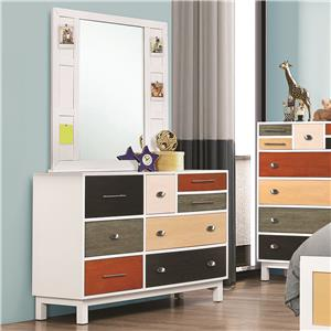 Coaster Lemoore Dresser and Mirror Set