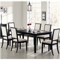 Coaster Lexton Upholstered Dining Side Chair - Shown with Dining Table