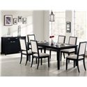 Coaster Lexton Server with Drawer & Door Storage - Shown with Dining Table and Side Chairs