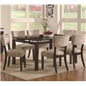 Coaster Libby Upholstered Dining Side Chair - Shown with Floating Top Dining Table