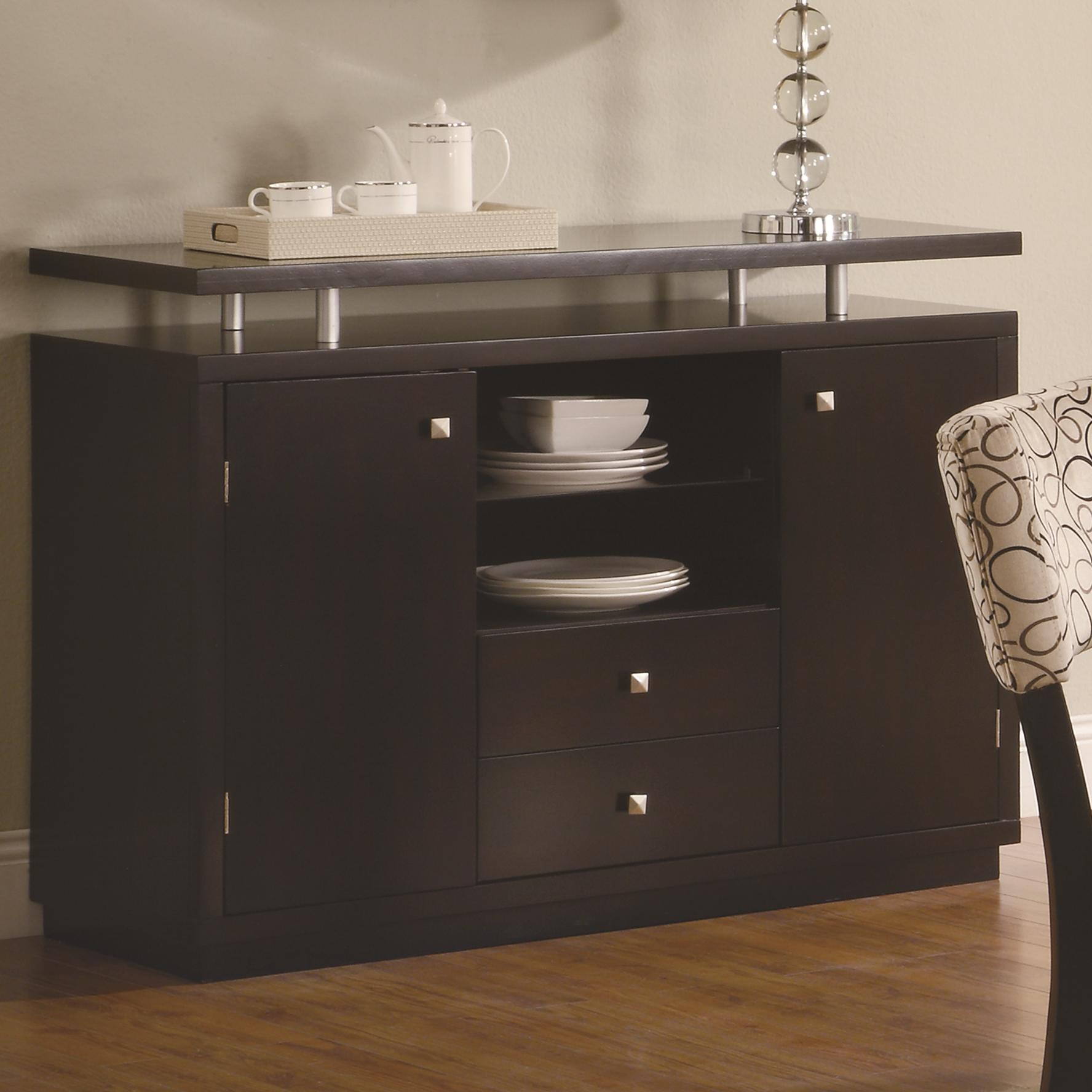 Merveilleux 2 Door Dining Server Buffet With Floating Top   Libby By Coaster   Wilcox  Furniture   Buffet Corpus Christi, Kingsville, Calallen, Texas
