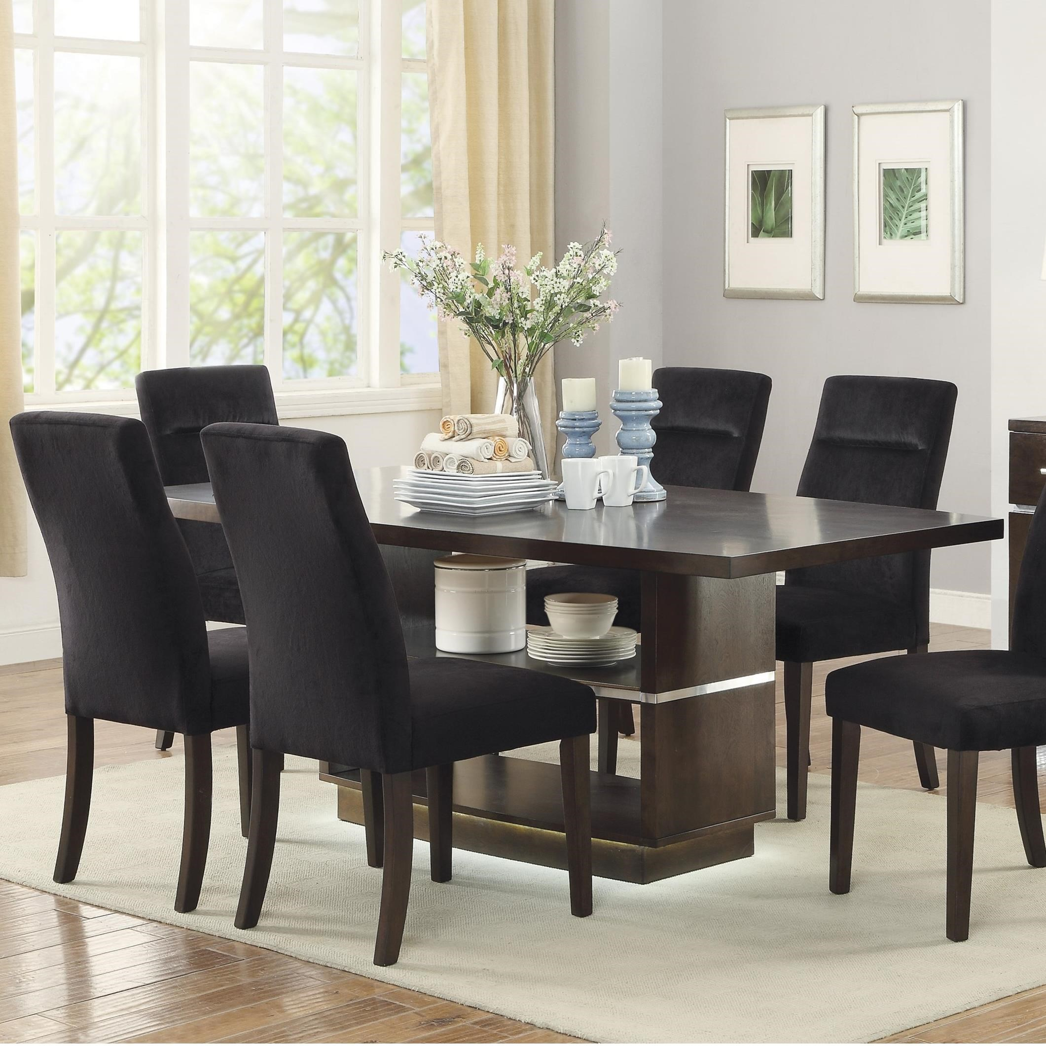 Coaster Lincoln 106891 Contemporary Dining Table With Led Lighting Dunk Bright Furniture