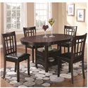 Coaster Lavon 5 Piece Dining Set - Item Number: 102671+4X102672